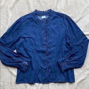 Denim Button Down Shirt Jacket
